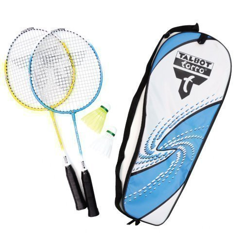 Badminton Federball Set Talbot Torro Attacker Anfänger Sport 2 Spieler Junior Set neu