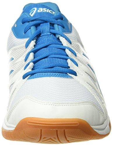 Asics Herren Gel Upcourt Badminton Schuhe, Mehrfarbig (White Blue Jewel White), 49 EU