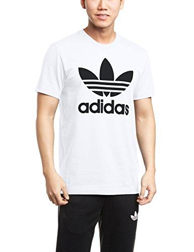 adidas Herren T-shirt Originals Trefoil, White, L, AJ8828