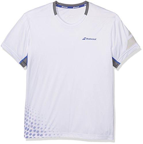 Babolat Uni Performance Crew Neck T-Shirt Oberbekleidung, Weiß, L