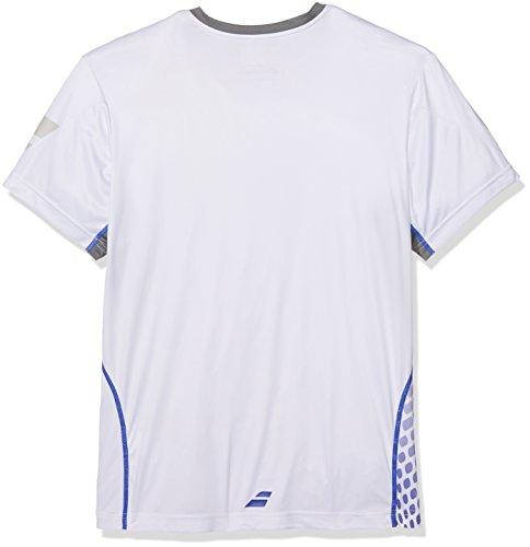 Babolat Uni Performance Crew Neck T-Shirt Oberbekleidung, Weiß, L -
