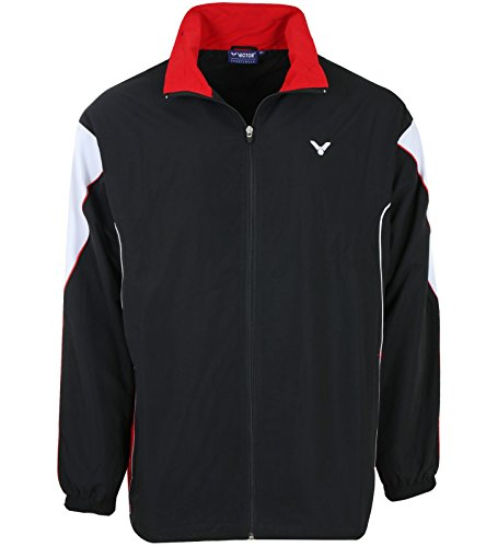 VICTOR Training Jacket Team Jacke Kinder Badminton Trainings-Jacke Sport-Jacke Schwarz 3701 , Größenauswahl:164