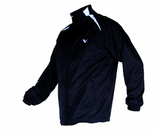 VICTOR Herren Trainingsjacke TA black 3030, schwarz/weiß, XXXL