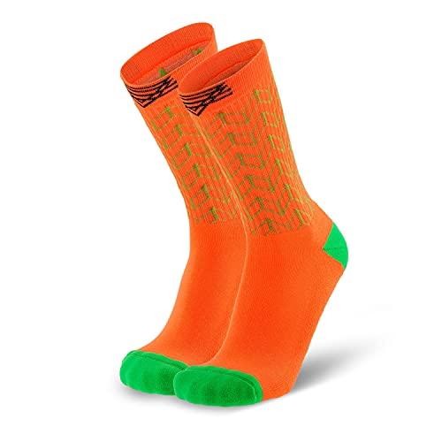 Splends Tennissocken Kick Serve Orange Unisex, lange Socken aus Coolmax, 39-42