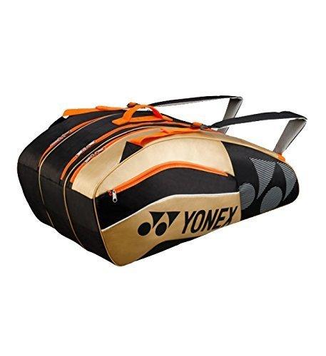 Yonex Schlägertasche Active Series Racket Bag 9er, schwarz, 75 x 36 x 32 cm, 86 Liter, BAG8529EX-bkgo