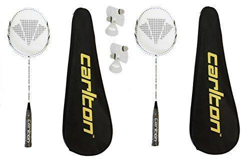 2 x Carlton Razorblade Tour Badminton-Schläger 6 Carlton Federbälle RRP £ 395
