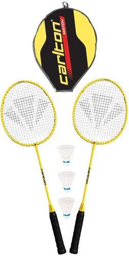 CARLTON 2er Set Badmintonschläger Federbälle & Tragetasche Badminton