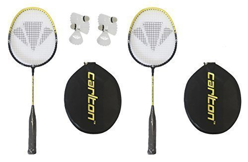 Carlton Nanoblade 2 x Pro Badmintonschläger, Junior, für 6 Bälle 135